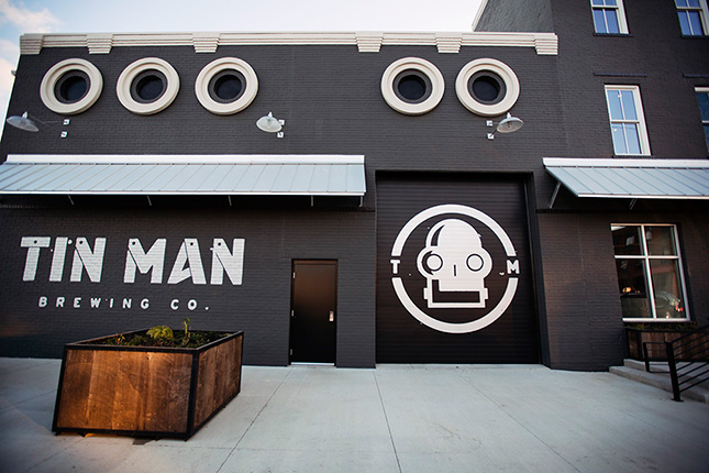 Tin man brewing company exterior design work matt for Exterior design company