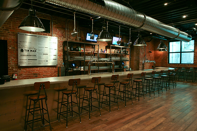 tin man brewing company tasting room interior design work matt wagner design